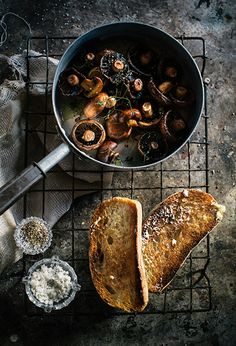 Hannah Blackmore photography mushrooms on italian toast