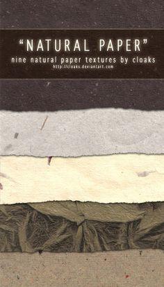 Natural Paper Texture Pack by cloaks.deviantart.com on @deviantART