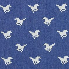 Denim Little Horse 1 - Cotton - Polyester - Spandex - denim