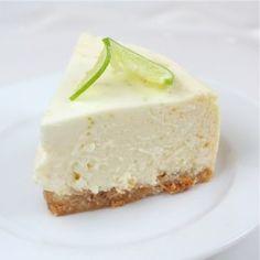 white chocolate - lime cheesecake