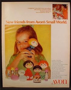 Magazine Ad For Avon Small World Collectible Doll Toys, With Perfume & Other Things Inside, 1970