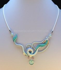 Spirited Away, Haku Necklace. Could make this out of polymer clay Cute Jewelry, Diy Jewelry, Beaded Jewelry, Jewelry Accessories, Jewelry Making, Homemade Jewelry, Jewelry Ideas, Jewellery Box, Jewellery Shops