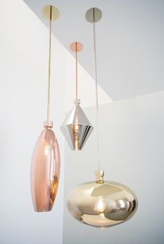 Blown glass pendant lamp REFLECT PENDANT by SkLO