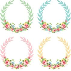 Vintage Freebie with Keren: Pretty Shabby Digital Wreaths Printable Labels, Free Printables, Molduras Vintage, Decoupage, Paper Crafts, Diy Crafts, Free Graphics, Grafik Design, Project Life