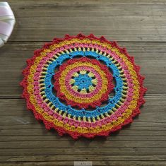 20pcs Crocheted Doilies Round woven color crochet by ColoredHome