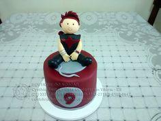 bolo decorado Mesversário Gavião Arqueiro/Hawkeye Cake