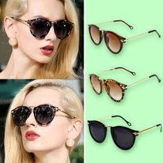 Damen-Sonnenbrille mit goldfarbenen Bügeln
