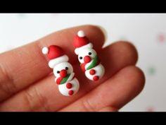 DIY Polymer Clay Snowman Earrings Tutorial