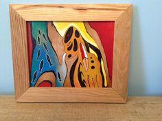 Sold -in rustic salvaged oak flooring frame