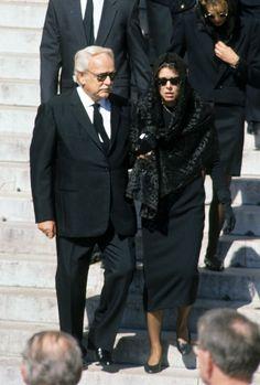 princesse caroline le jour de l'enterrement de son mari stephano