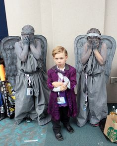 SDCC 2013 Little Doctor Who and Weeping Angels