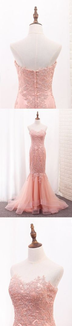2020 Sweetheart Mermaid Tulle Prom Dresses With PYKF86QH, This dress could be custom made, there are no extra cost to do custom size and color