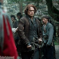 """@Regrann from @entertainmentweekly -  Great Scot! Here's your exclusive first look at new #Outlander season 3 photos. """"In the space of five episodes, I go from the huge battle to having lost everything, living in a cave, living in his memories of Claire, and then finding some sort of peace and freedom,"""" #SamHeughan says. Swipe through to see more photos, and click the link in our bio for details. #50Scoops50Days  #JamieFraser #ClaireFraser #SamHeughan #CaitronaBalfe #CesarDomboy…"""