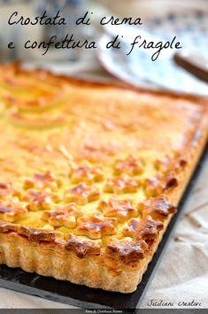 Crostata di crema e confettura - Custard and jam pie #crostata #crostate #custard #custardpie #pie #dolci #dolcidacolazione #breakfast #cake #dolcidacredenza