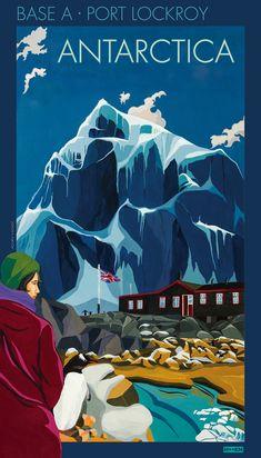 Port Lockroy, Antarctica poster Artist: Marine Israel