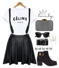 """wait for a minute"" by lolxbye ❤ liked on Polyvore featuring ASOS and Lulu Guinness"