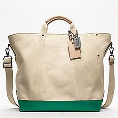 9fa4def582b3be Let's go to the beach // Coach WASHED CANVAS BEACH TOTE Ladies Handbags  Online,