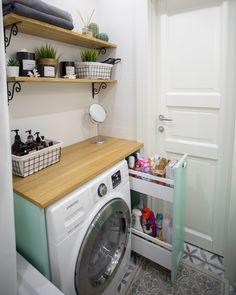 Small Apartment Decorating, Apartment Design, Scandi Home, New Bathroom Ideas, Prefab Homes, Small Apartments, Decoration, Sweet Home, New Homes