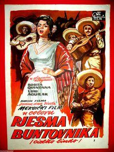 CIELITO LINDO 1957 ROSITA QUINTANA MIGUEL DELGADO MEXICAN RARE EXYU MOVIE POSTER