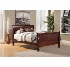 Alpine Furniture - Louis Philippe II Eastern King Sleigh Bed - 2700EK