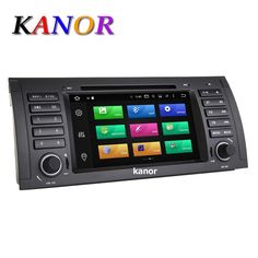 KANOR Android 6.0 Octa Core 2G DDR3 32G ROM Car DVD Player For BMW E39 E53 X5 1024*600 GPS Navigation Capacitive Bluetooth WIFI