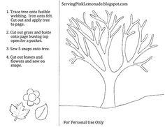 book idea, craft, templates, quiet books, trees