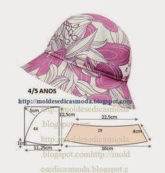 Moldes Moda por Medida: CHAPÉU DE SOL 4/5 ANOS.                                                                                                                                                                                 Más