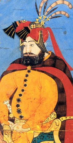 Murat IV. (reg. 1623-1640) Murat IV. war bekannt für seine Reformen und gesetzlichen Verbote, die sich u.a. gegen den Genuss von Alkohol und Tabak richteten. Hier ist er vor dem Aufbruch zum Bagdad-Feldzug in der Tracht eines arabischen Kriegers gezeigt.