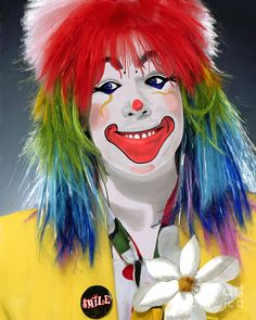 Clown Paintings for Sale   Smiling Clown Painting - Smiling Clown Fine Art Print