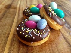 M & M Easter Egg mini donuts by GreenMntMiniBaked on Etsy, $15.50