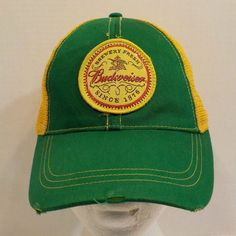 Budweiser Beer Retro Distressed Baseball Hat Cap Snapback #H2Promotions #BaseballCap