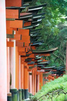 Inari gates in Aichi, Japan