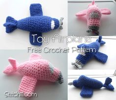 Toy Airplane Free Crochet Pattern from @Corina Gray
