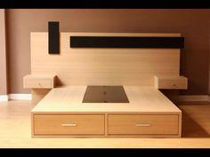 Bedroom Cupboard Designs, Room Design Bedroom, Bedroom Furniture Design, Modern Bedroom Design, Bed Furniture, Bed Designs With Storage, Bed Frame With Storage, Wood Bed Design, Bed Frame Design