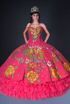 Hot Pink Quinceanera Dresses, Fuchsia Quince Dresses, Pink 15 ...