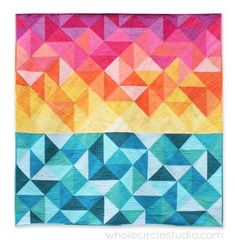 As we look forward to longer days, we can't think of a more perfect way to celebrate than with #SunSalutations by Sheri Cifaldi-Morrill of Whole Circle Studio. The quilt radiates warmth and light, something that Sheri achieved through her use and distribution of color, her scrappy binding, and her quilting techniques with a variety of Aurifil threads. To learn more about her process, please visit: http://blog.wholecirclestudio.com/?p=1738