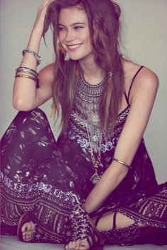 boho outfit. maxi dress. summer