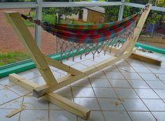 Hammock Stand - Indoor & Outdoor. #woodworking #wood #hammock #stand
