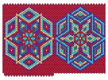 Persia (simple version) Pattern by Charley Hughes AKA BeadyBoop at Bead-Patterns.com