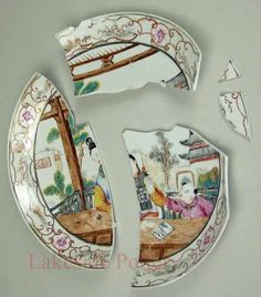 antique japanese plate before repair  sc 1 st  Pinterest & Broken plaster statue - Repair and restoration. Lakeside Pottery ...