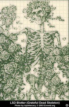 Erowid Chemicals Vaults : Images : lsd blotter ap_dead-skeleton