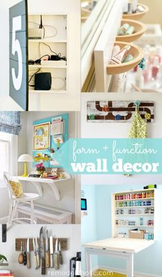 30+ Functional Wall Decor Ideas