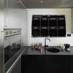 Weekly Planner Chalkboard Wall Sticker Kitchen Organiser Calendar Memo Board