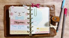 Art Planner with the Filofax Malden Pocket #cat notes section