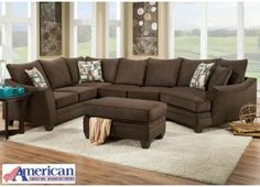 Flannel Sectional - Espresso, /category/living-room/flannel-sectional-espresso.html