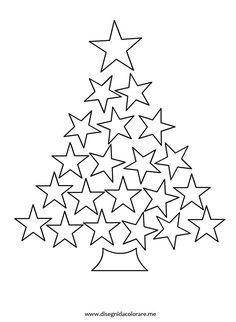 Star Christmas Tree colouring page Christmas Colors, Christmas Projects, Winter Christmas, Kids Christmas, Christmas Decorations, Christmas Ornaments, Christmas Templates, Christmas Printables, Theme Noel
