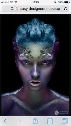 My favourite image for fantasy bald cap so far! Love the colour theories displayed.. Fantasy makeup