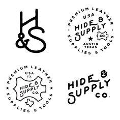 Ryan Bowles - Hide & Supply Co. Vintage Typography, Typography Logo, Logo Vintage, American Logo, Custom Fonts, Design Projects, Creative Design, Logo Design, Branding