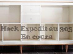 Un tuto pour fabriquer soi même un meuble enfilade ou bahut à partir de modules Expedit d'Ikea