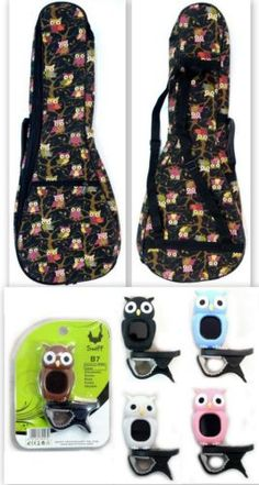 Owl-ukulele-Bag-X-Owl-Tuner-Bag-for-Tenor-or-Baritone-5-random-colors-Tuner